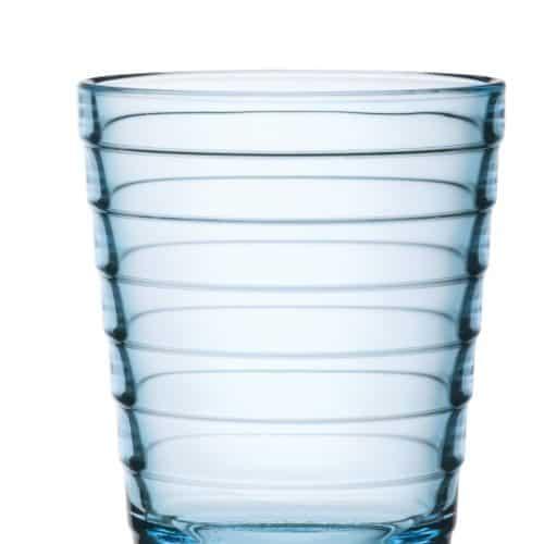 Aino Aalto 2x22 cl light blue glass / vaaleansininen