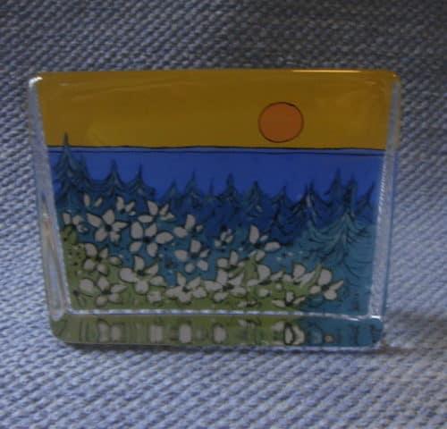 Lämpö auringon lasikortti