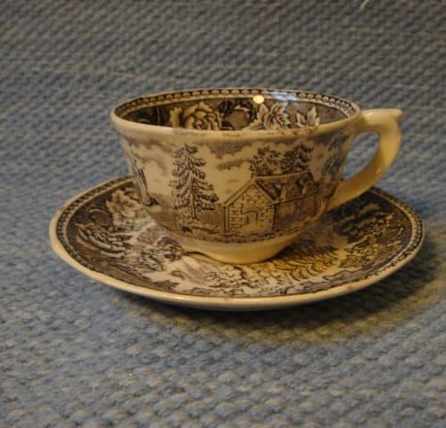 Maisema kahvikuppi