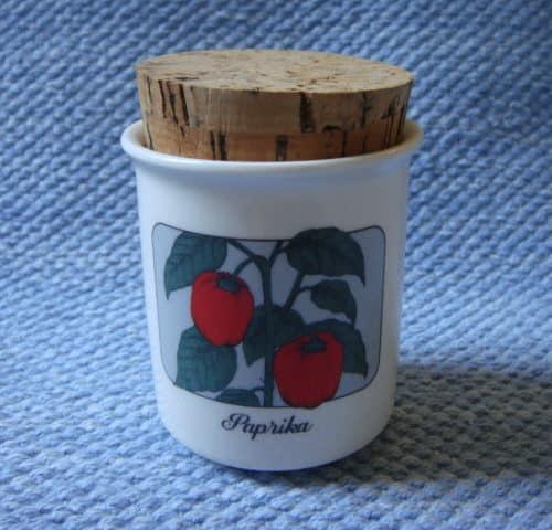 Paprika maustepurkki