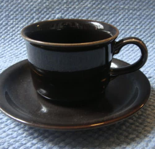Ruskea kahvikuppi
