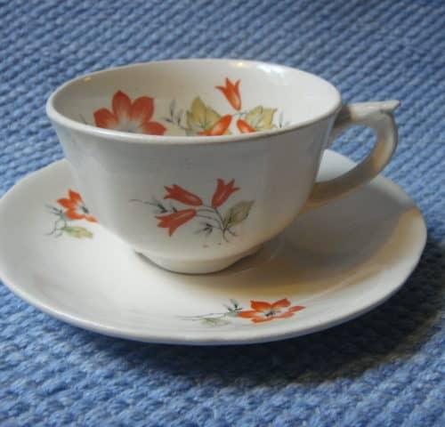 Ruskolilja kahvikuppi