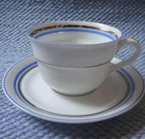 Sinihopea kahvikuppi