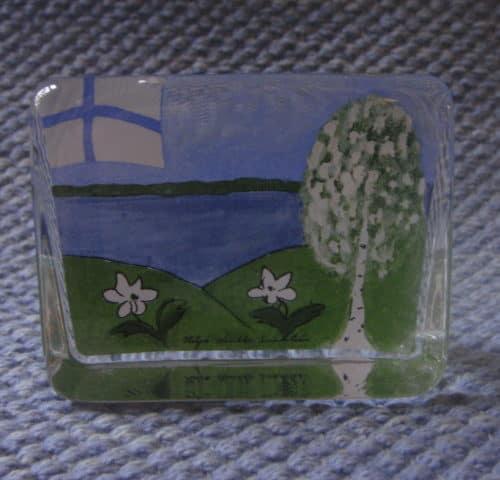 Suomen kevät lasikortti