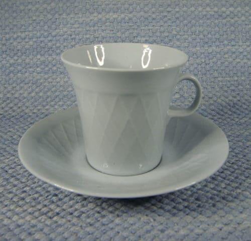 Sävyposliini kahvikuppi, sininen