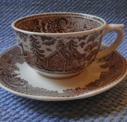 Maisema teekuppi