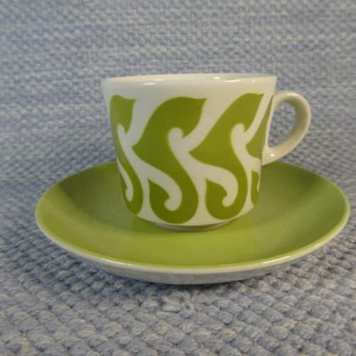 BR-mallin kahvikuppi, vihreä koriste