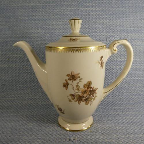 Kahvikannu, AX-malli, ruskeita kukkia