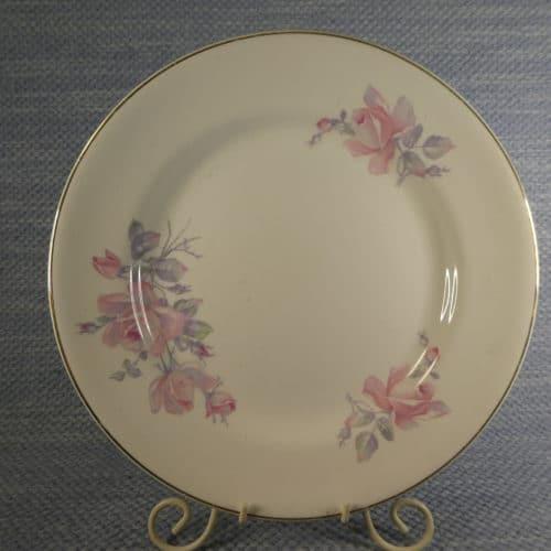 Lautanen, vaaleanpunainen ruusu