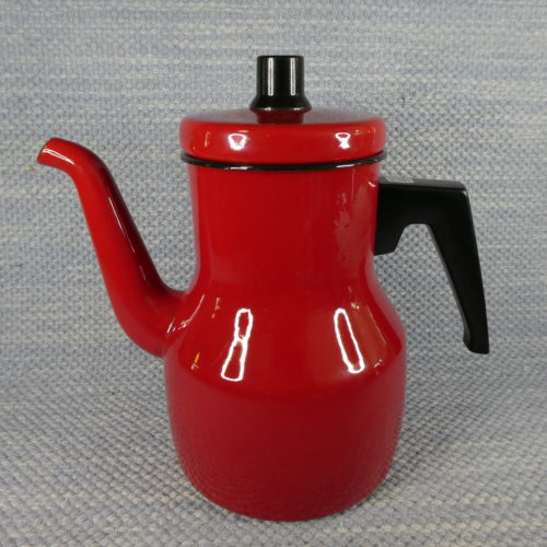 Emali kahvipannu punainen