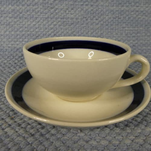 Kahvikuppi sininmen raita