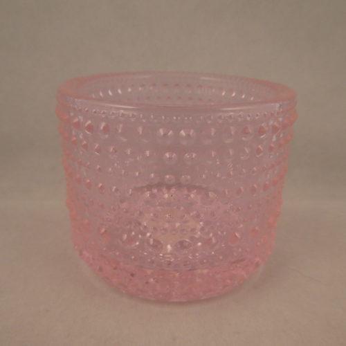 Kastehelmi kynttilälyhty vaalea pinkki